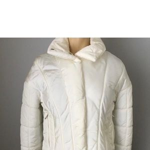 CHANEL White Cropped Ski Jacket, S.38, New